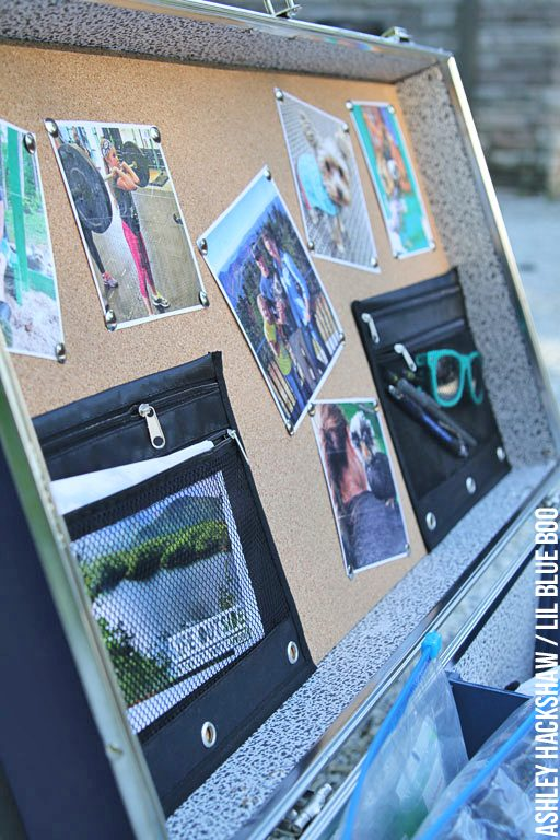 Camp Packing Ideas - Lid organization and bulletin board