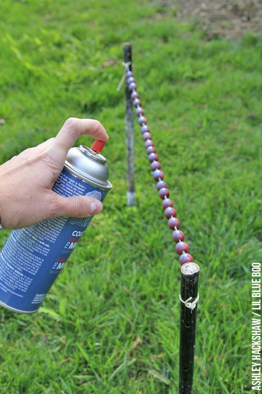 how to spray paint beads