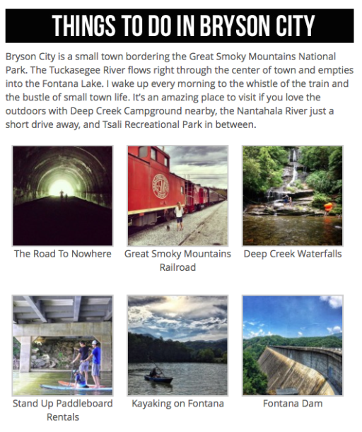 Things to Do in Bryson City and the Great Smoky Mountains