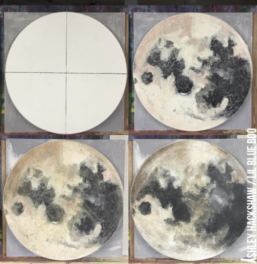 Round Moon Painting