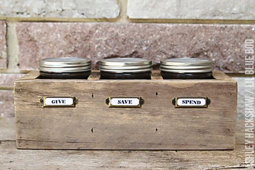 give save spend piggy bank - Teaching kids about spending vs. Saving