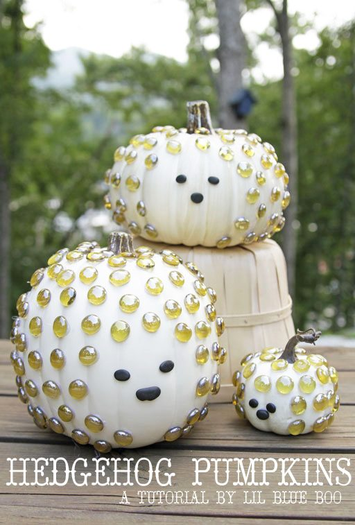 Hedgehog Pumpkins - Pumpkin Decorating Ideas
