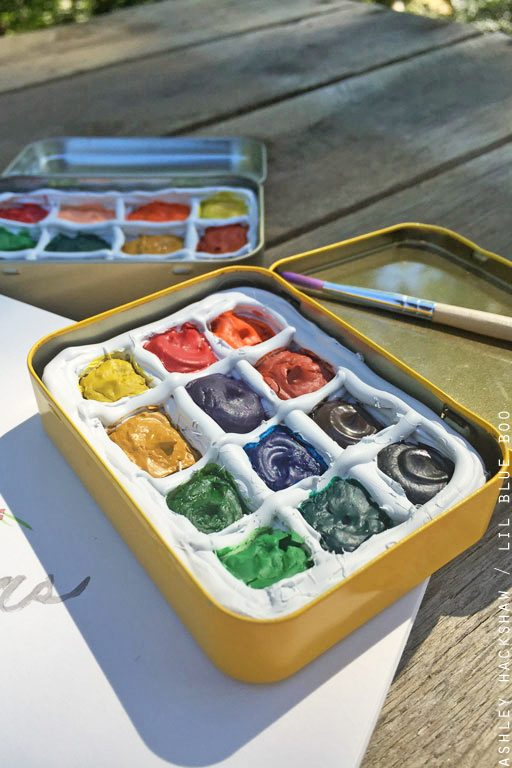 How to make a travel watercolor palette box