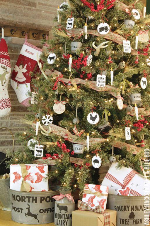 farmhouse christmas decorating ideas - dream tree challenge micheals