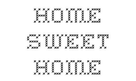 Cross Stitch Font download