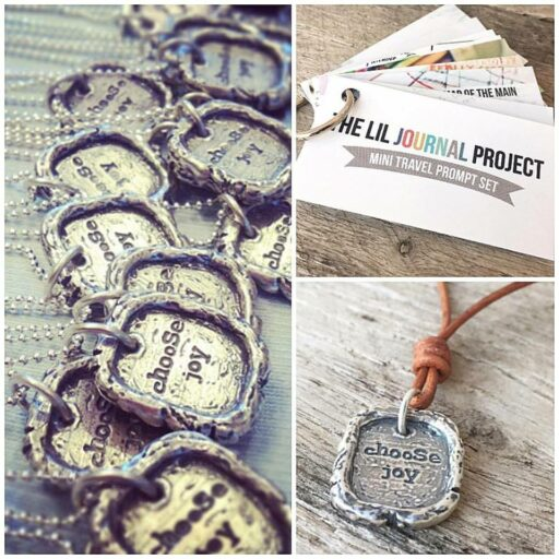 Choose Joy necklace and journal prompts