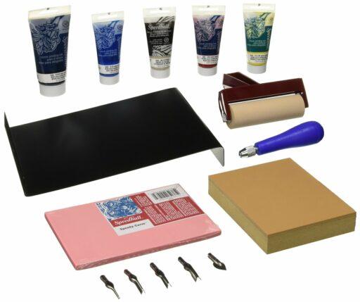Supplies for block printing - starter kit