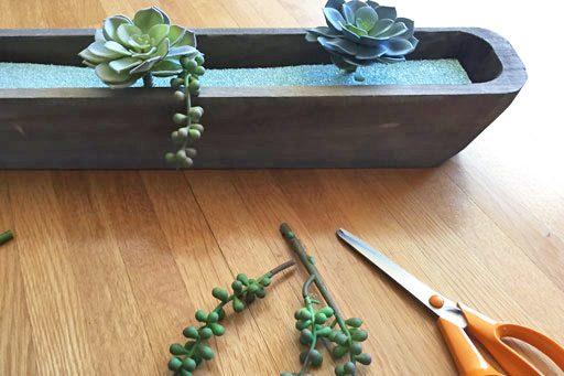 DIY Artificial Succulent Arrangement Tutorial - Spring floral ideas