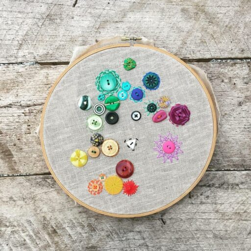 365 Project - one embroidery stitch a day (and a button)