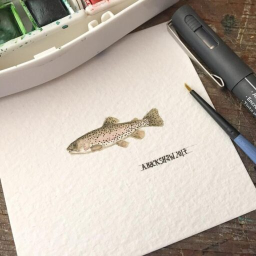 Tiny Trout Painting - Ashley Hackshaw - 365 Project - Daily Painting