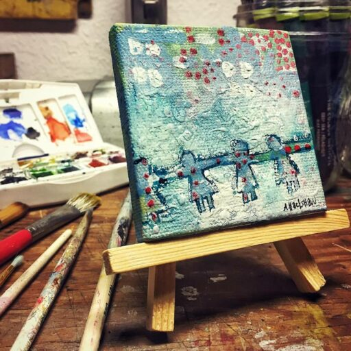 Tiny Painting on an easel - Ashley Hackshaw - 365 Project - Daily Painting