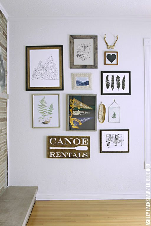 eclectic gallery wall ideas