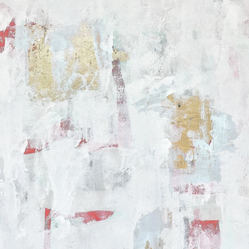 One Abstract Gold Leaf and Enamel - Painting a Day - Daily Paintings from Week 15 #365 Project