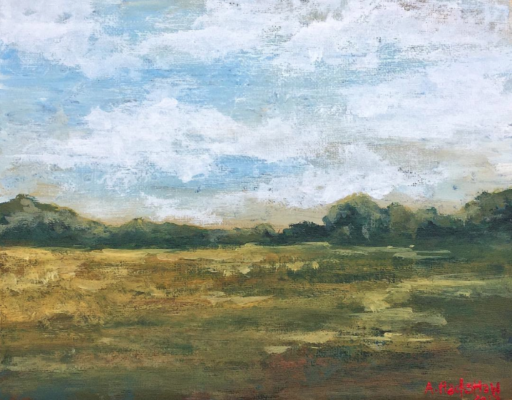 Acrylic Landscape Painting - Ashley Hackshaw - One Painting a Day - 100 Day Project