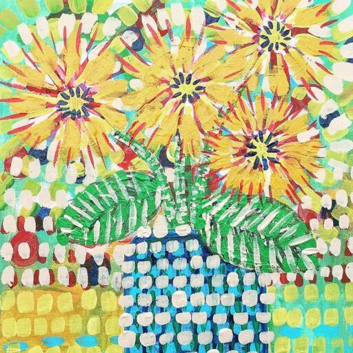 Yellow Floral Painting - Ashley Hackshaw