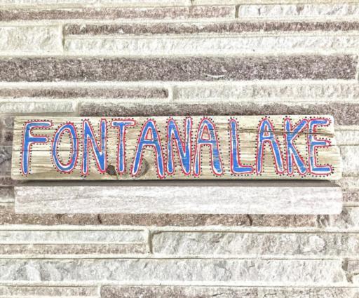 Daily Painting - Driftwood Fontana Lake Sign