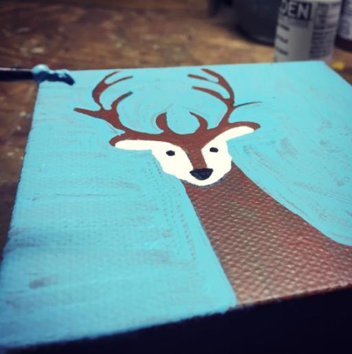 Deer Painting -vArtist: Ashley Hackshaw / Lil Blue Boo