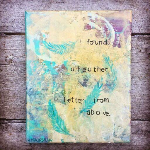 Feather Painting - Artist: Ashley Hackshaw