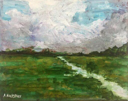 Abstract Landscape Painting - Artist: Ashley Hackshaw