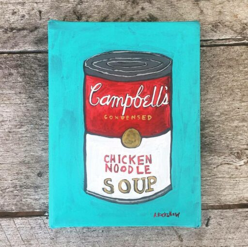 Campbell's Soup Painting - Artist: Ashley Hackshaw