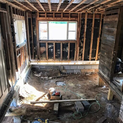 Putting the Farmhouse Back Together - Joists and Subfloor