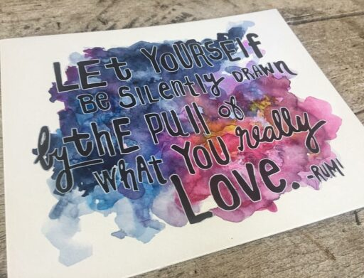 Rumi quote - Watercolor painting - Universe Painting