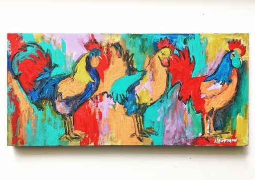 Gallery 1 Sylva - Rooster Painting by Ashley Hackshaw Bryson City