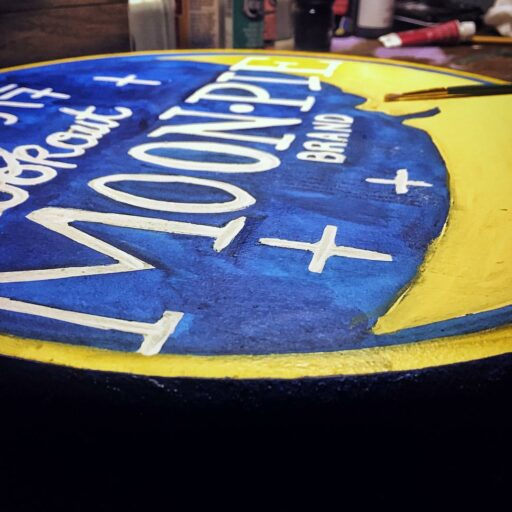 Moon Pie painting - Round painting