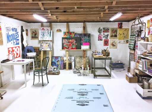 how to set up an art studio at home