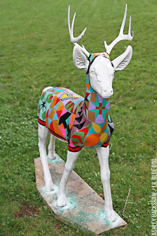 How to Paint Concrete Garden Statues - A Painted Quilt #michaelsmakers