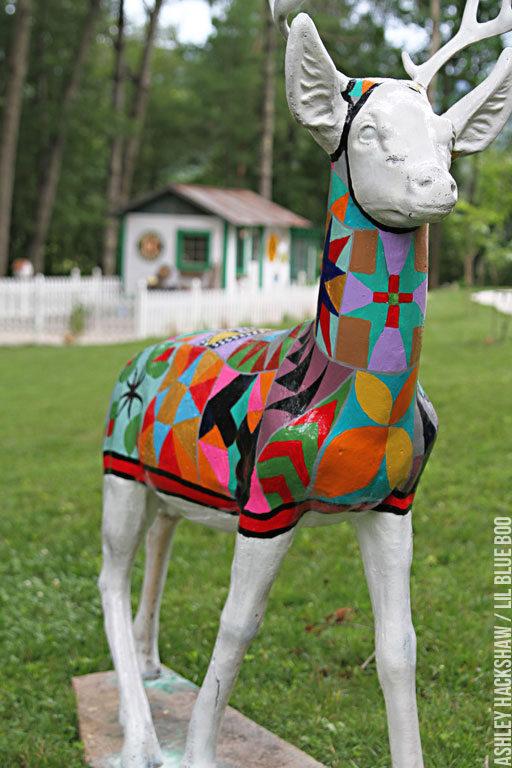 Painted Deer - Outdoor Concrete decor