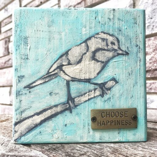 Bird Painting - Choose Happiness