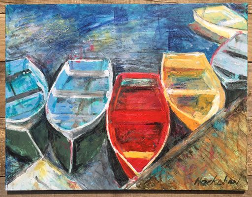 Boat Paintings from Rockport MA