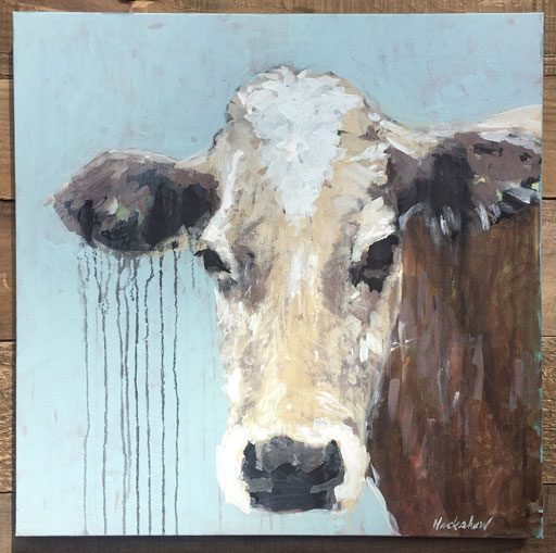 Cow Painting by Ashley Hackshaw - Jersey Cow