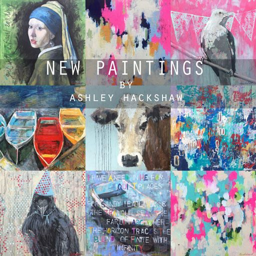 New Paintings - Boats, Birds and Abstracts by Ashley Hackshaw - Boat Paintings, Cow Paintings, Bird Paintings - Daily Art in 2017