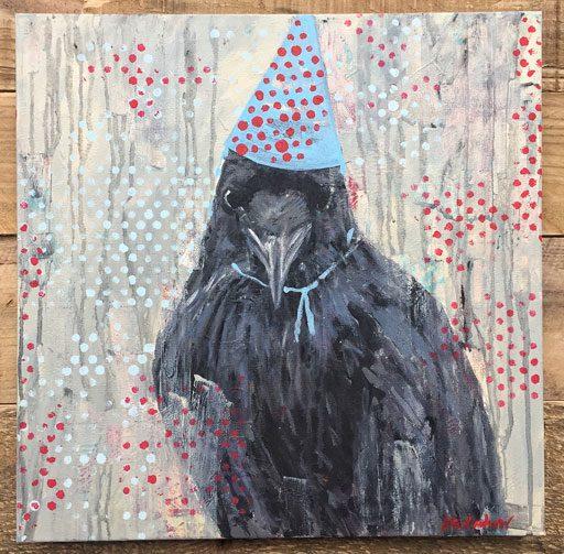 Raven Painting by Ashley Hackshaw