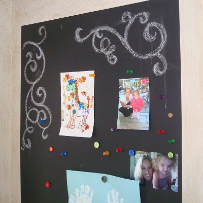 Magnetic Chalkboard Wall & Growth Chart 3 via lilblueboo.com