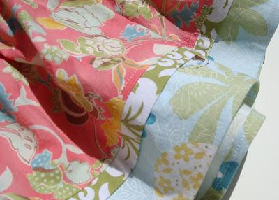 The Evelyn Apron Skirt accent strip via lilblueboo.com