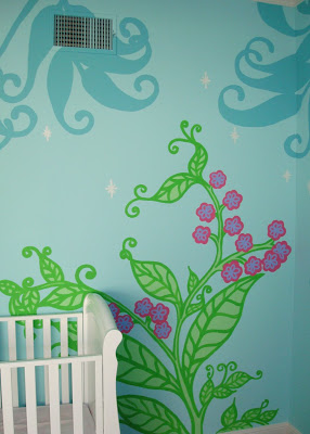 Fairy Forest Mural Template Free Download 4 via lilblueboo.com