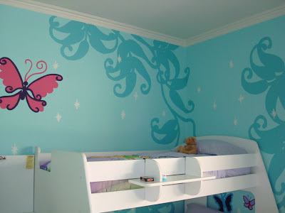 Fairy Forest Mural Template Free Download 5 via lilblueboo.com