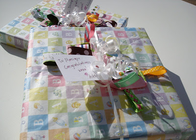 Nursery Paintings, Baby Sprinkle, and Birthday Surprise 2 via lilbluebool.com