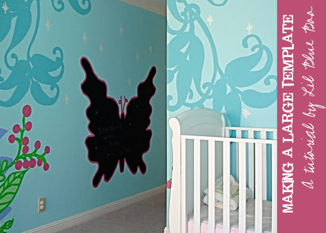 Fairy Forest Mural Template Free Download template via lilblueboo.com