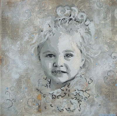 Custom Painted Portraits via lilblueboo.com