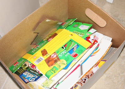 Recycled Cereal Boxes and Food Boxes via lilblueboo.com