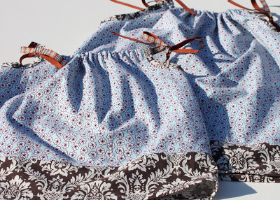 Big Sister/Little Sister Pillowcase Dresses 2 via lilblueboo.com