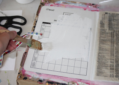 Making a Composition Book Art into a Journal 17 (Tutorial) via lilblueboo.com