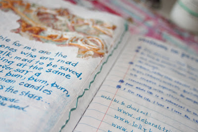 Making a Composition Book Art into a Journal 25 (Tutorial) via lilblueboo.com