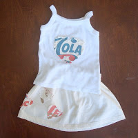 Top tutortials week -Recycled T-Shirt Toddler skirt via lilblueboo.com