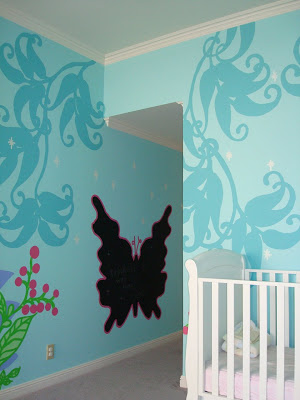 Making your own mural border template butterfly via lilblueboo.com