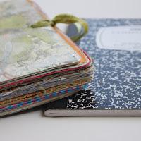 Top tutortials week -Composition Notebook Art Journal via lilblueboo.com
